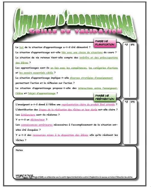 Guide pour la formation - Grille d evaluation formation ...